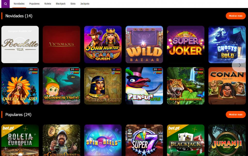 jogos disponíveis no casino Bet.pt