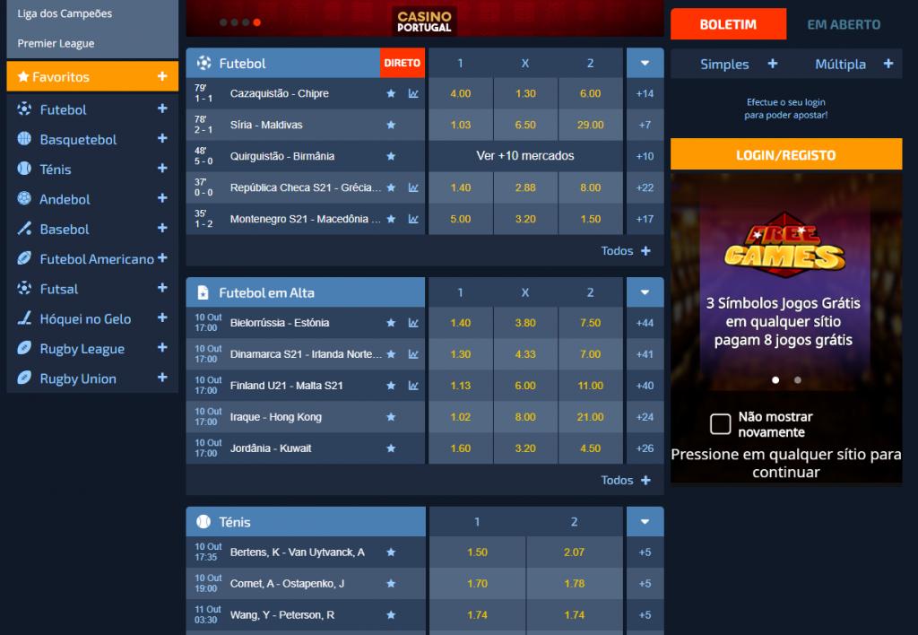 site da casa de apostas Casino Portugal