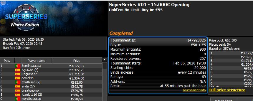 seminilhaaaaaa vence o SuperSeries #01 - 15.000€ Opening